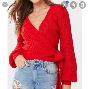 Forever 21• women's wrap sweater